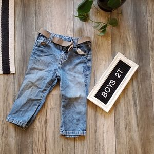Other - Boys Play Jean's with Velcro Belt